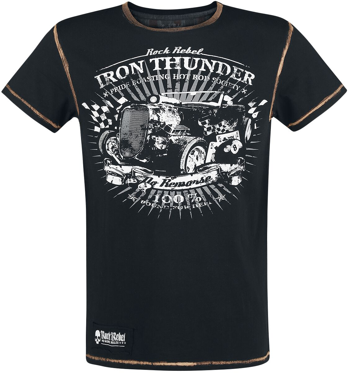 Image of   Rock Rebel by EMP Desolation Road T-Shirt sort