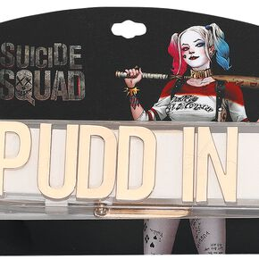 Harley Quinn Puddin' Collier blanc/or