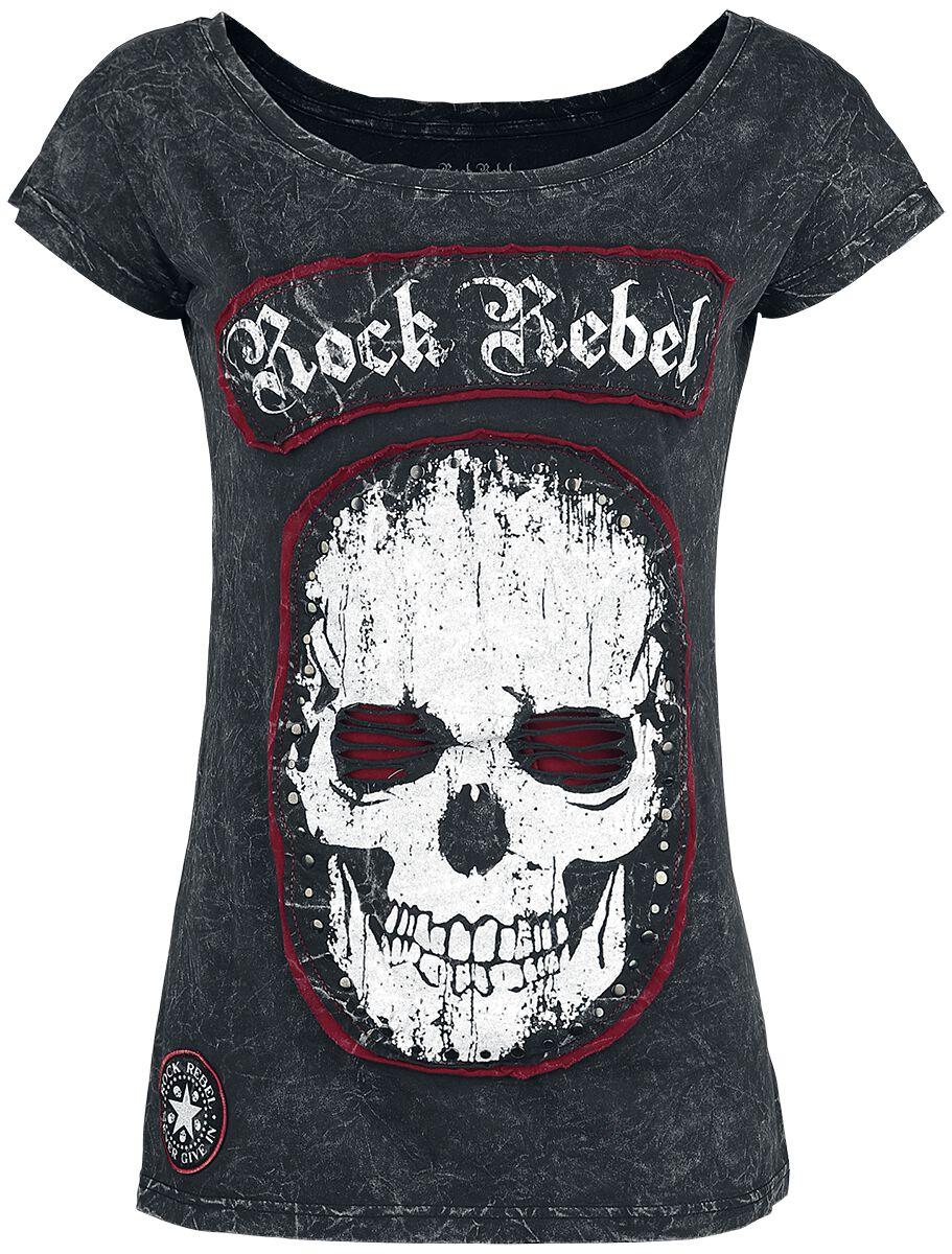 Image of   Rock Rebel by EMP Blood In The Eye Girlie trøje mørk grå