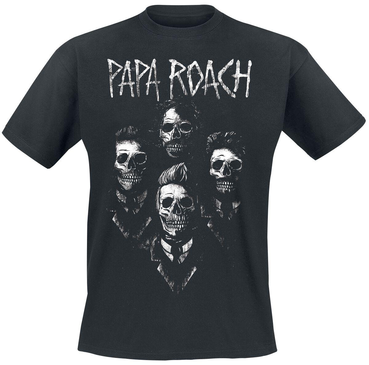 Zespoły - Koszulki - T-Shirt Papa Roach Portrait T-Shirt czarny - 347896