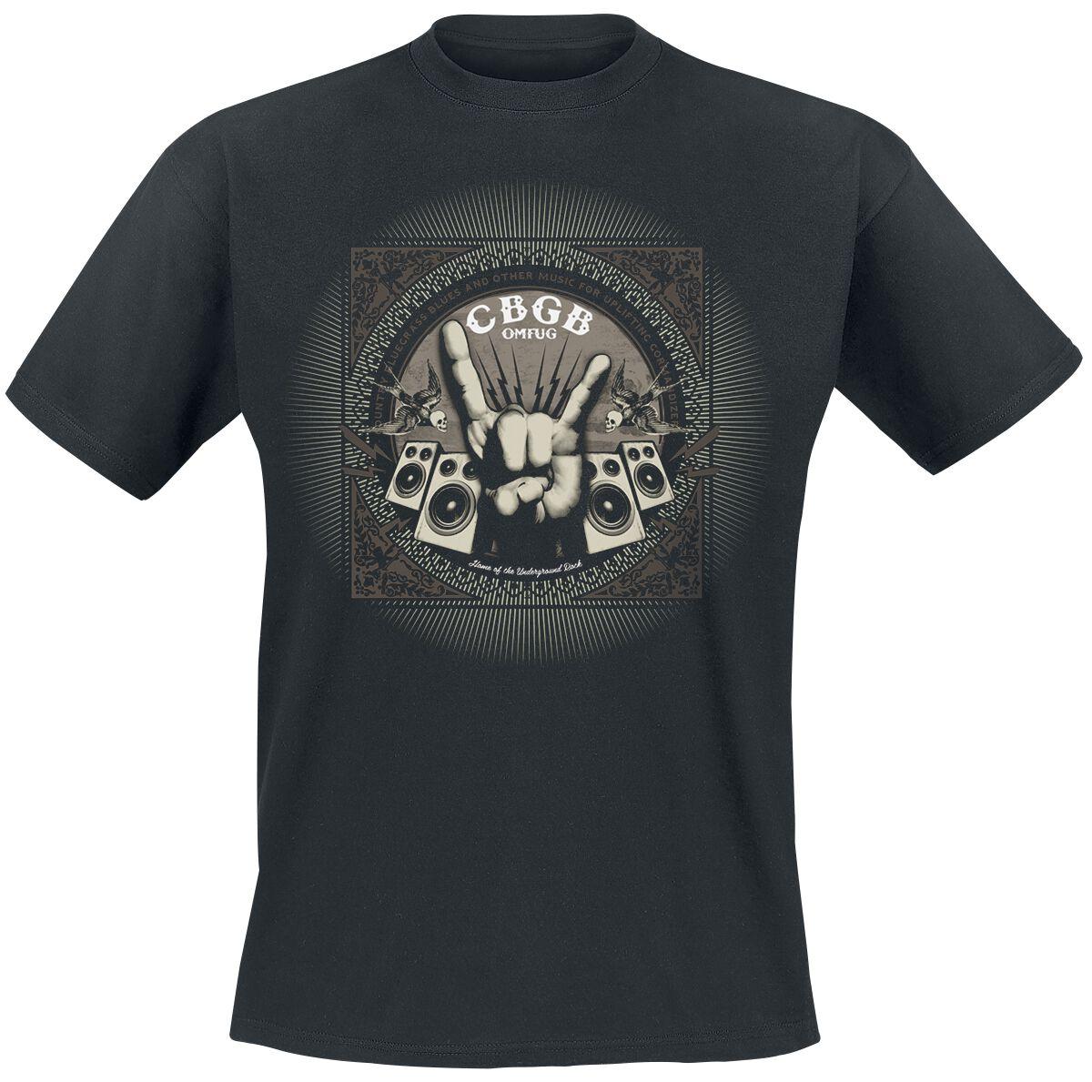 Merch dla Fanów - Koszulki - T-Shirt CBGB Rock Hand T-Shirt czarny - 347903