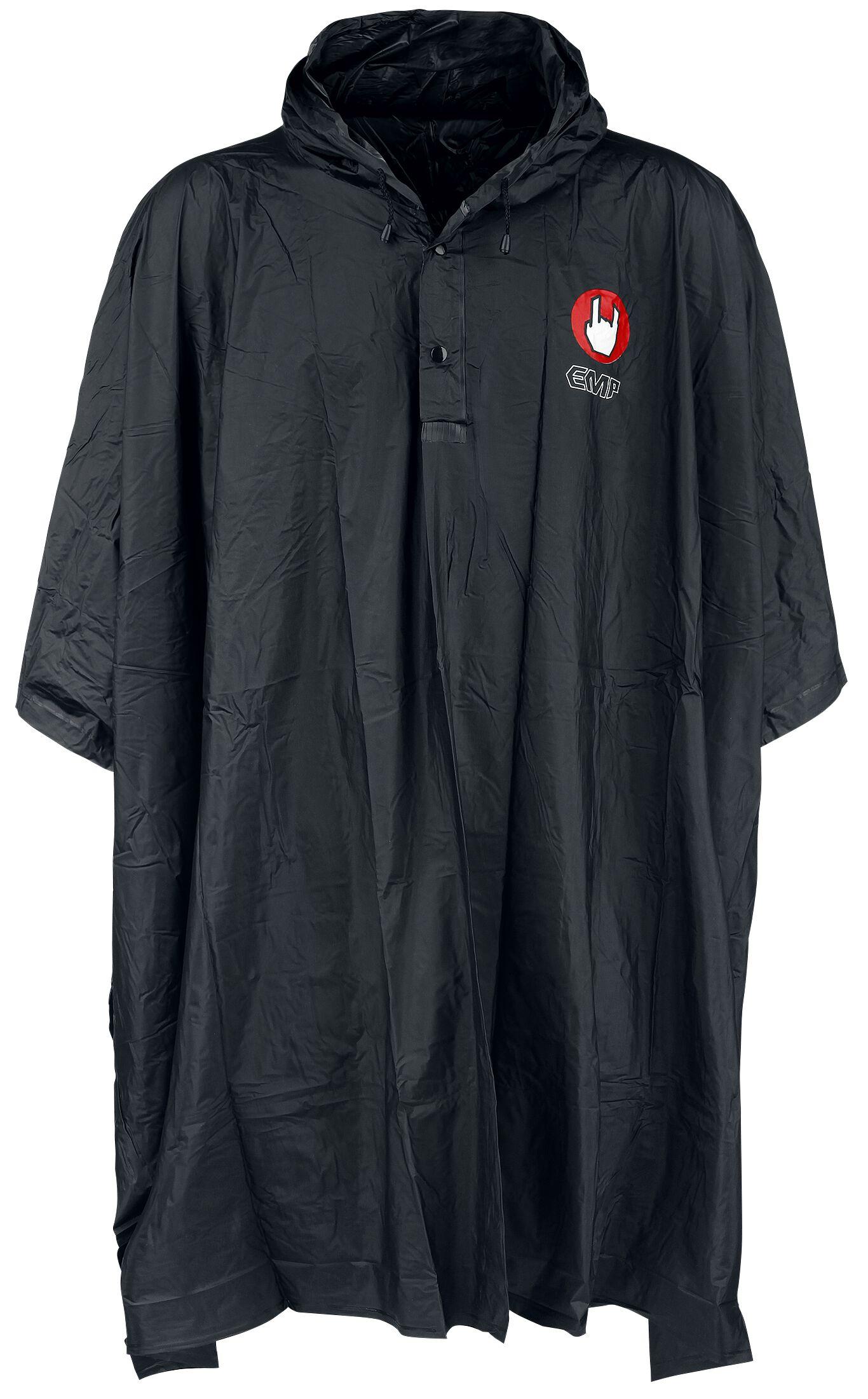 Fun Shirts - Kurtki - Poncho EMP Poncho przeciwdeszczowe Poncho czarny - 347970