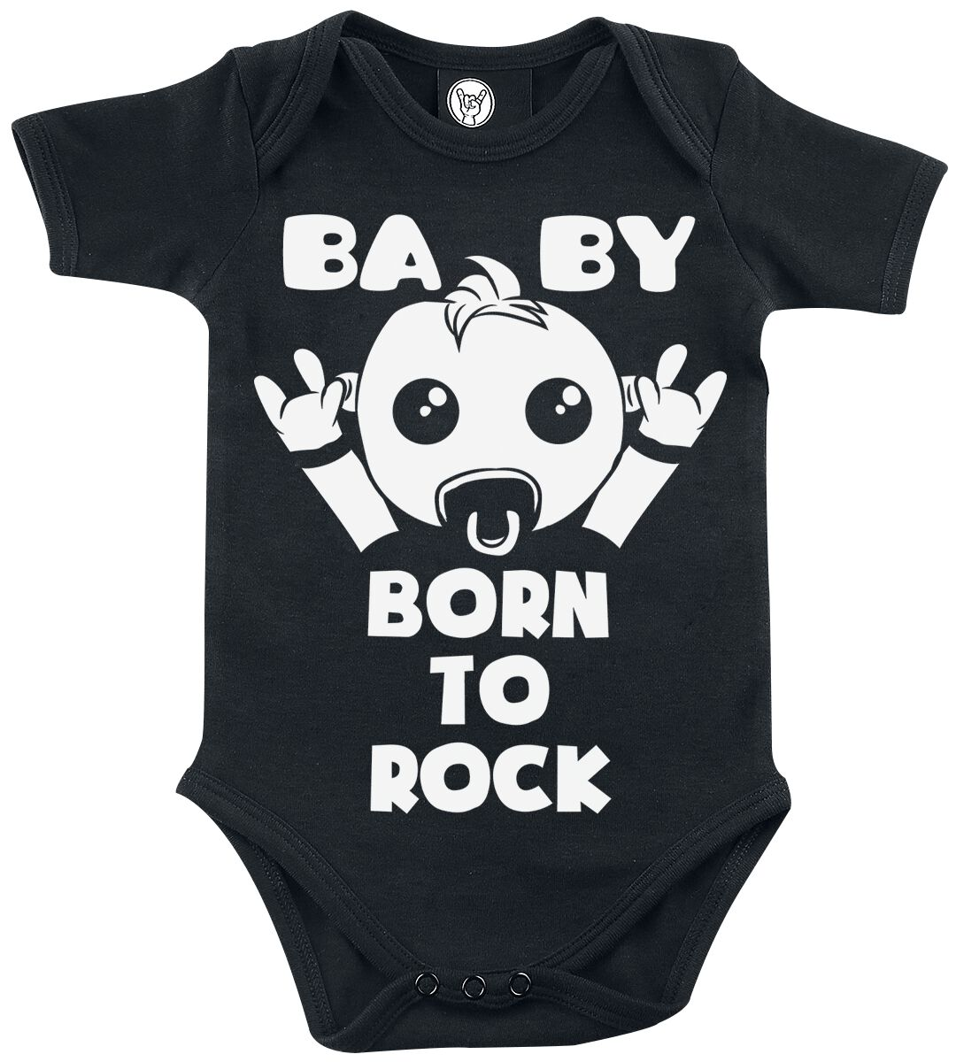 Fun Shirts - Odzież dziecięca i niemowlęca - Body Baby Born To Rock Body czarny - 347978