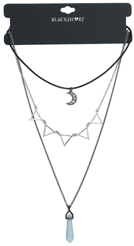 Image of   Blackheart Blue Crystal Halskæde Standard