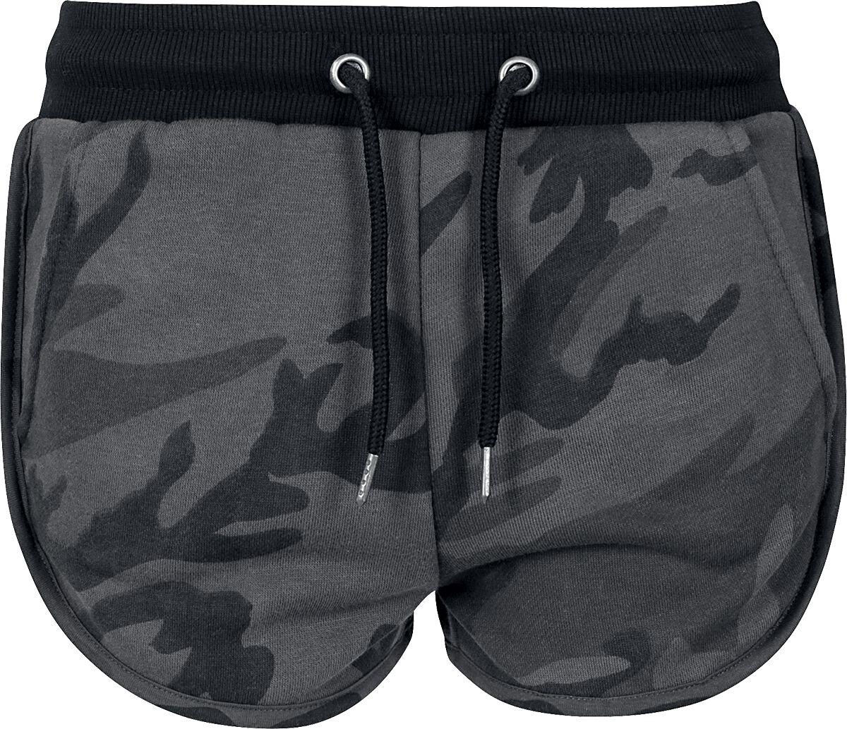 Hosen für Frauen - Urban Classics Ladies Camo Hotpants Girl Hot Pant darkcamo  - Onlineshop EMP