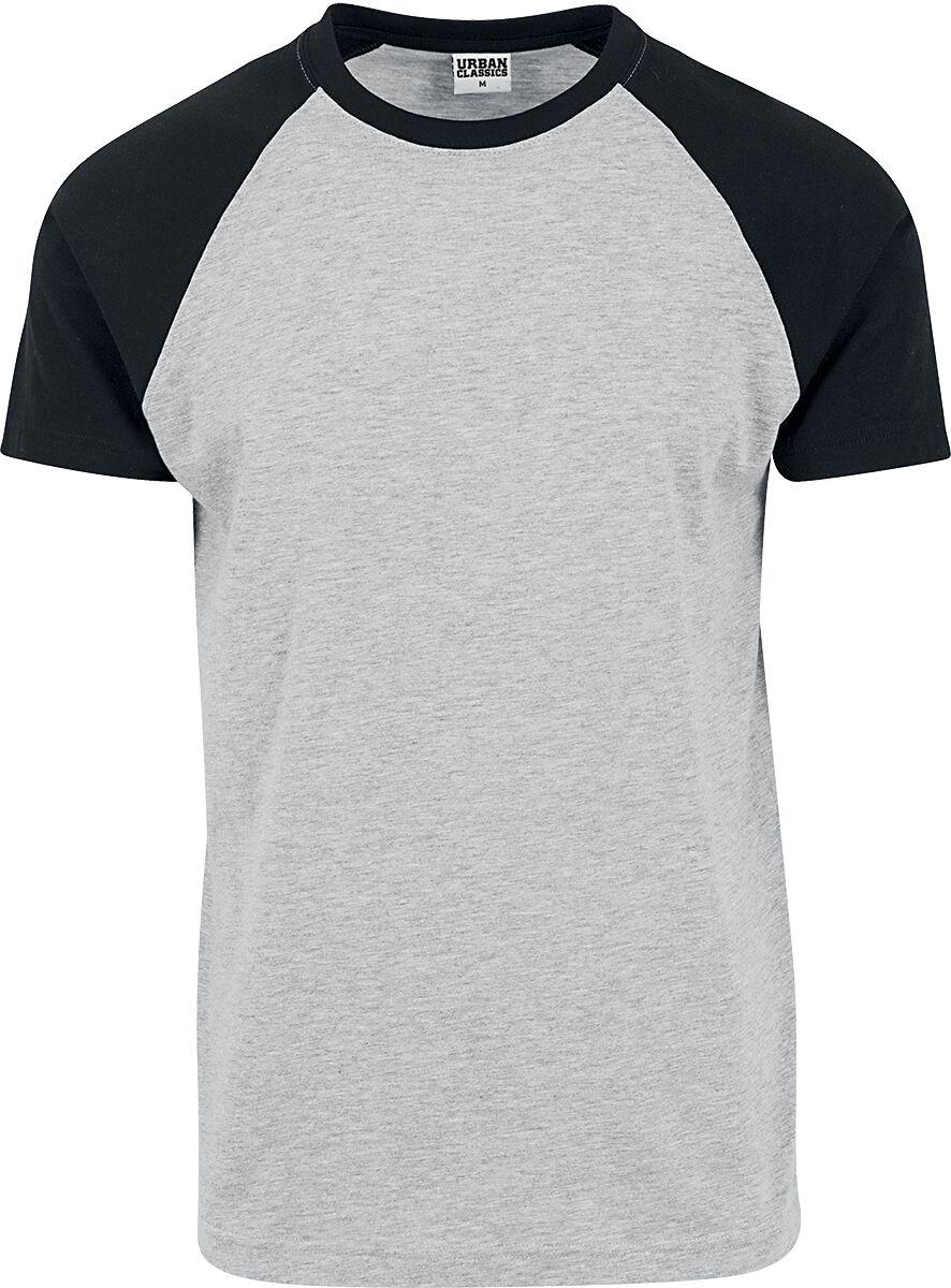 Image of   Urban Classics Raglan Contrast Tee T-Shirt blandet grå-sort