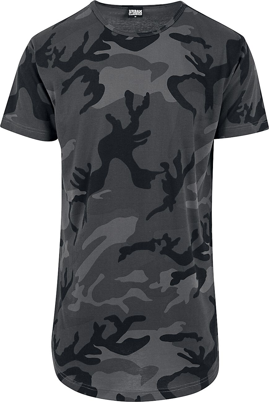 Image of   Urban Classics Camo Shaped Long Tee T-Shirt mørk camo