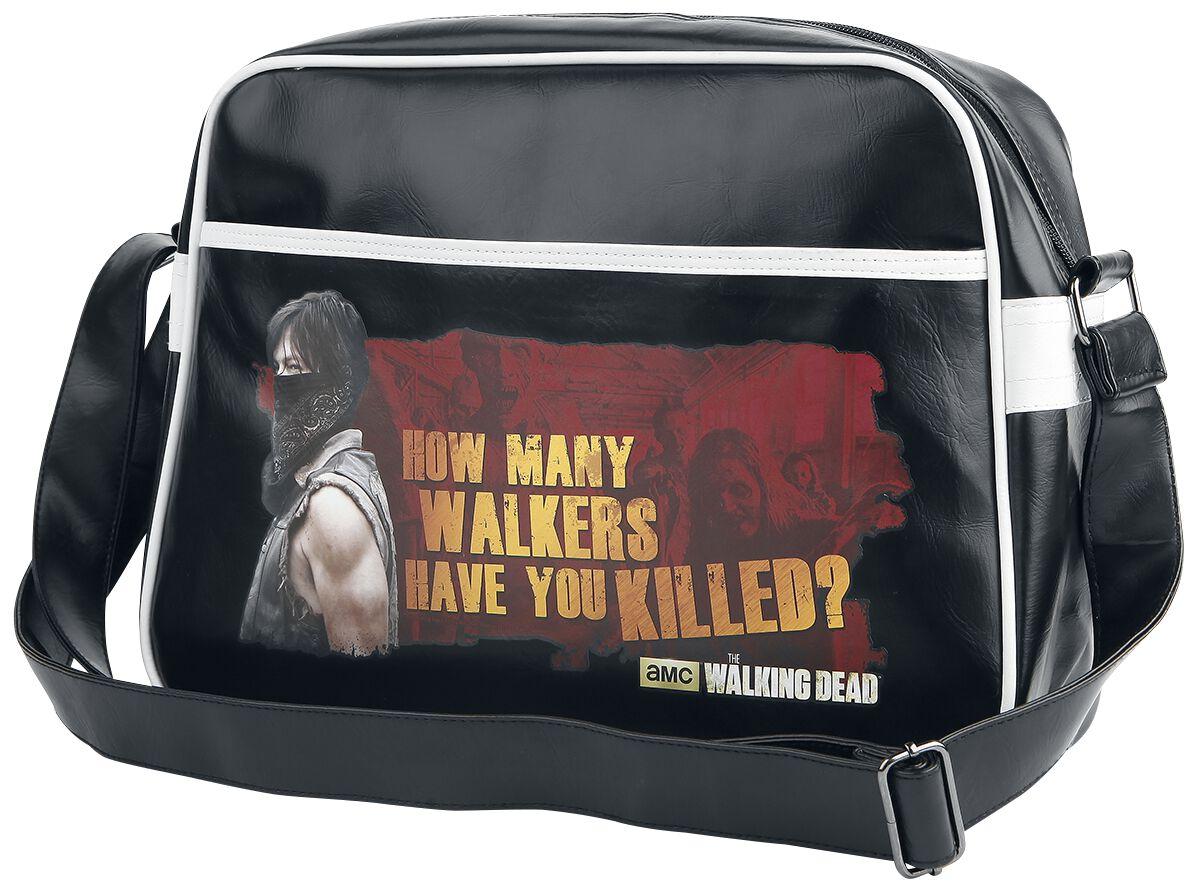 Image of   The Walking Dead How many Walkers have you killed? Skuldertaske sort
