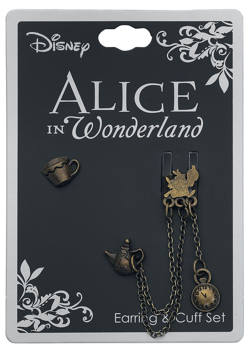 Image of   Alice i Eventyrland Tea Time Ørestik guld