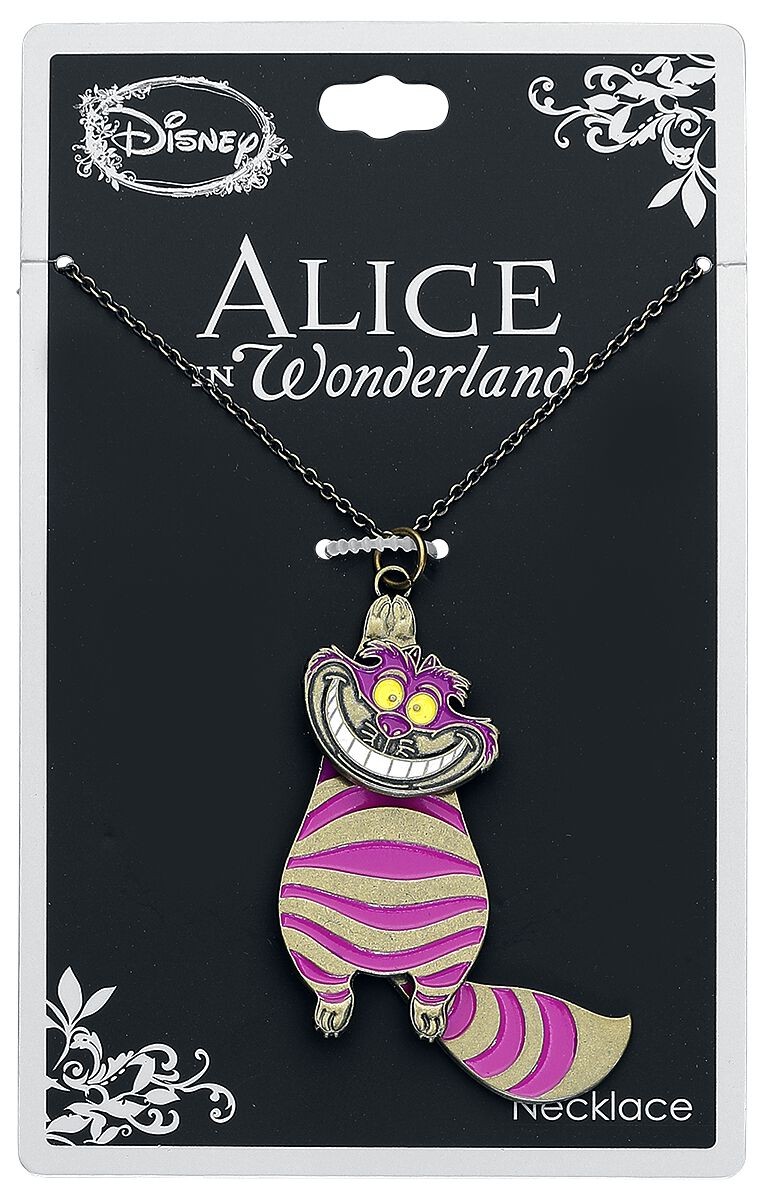 Image of   Alice i Eventyrland Bevægelig Filurkat Halskæde pink