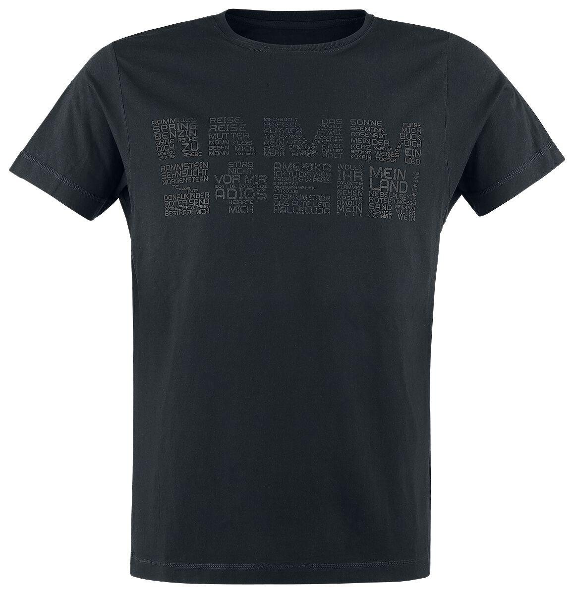 Image of   Rammstein Werk T-Shirt sort