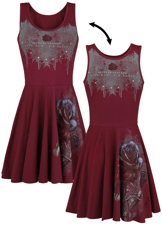 Image of   Alchemy England Bleeding Rose Kjole rød