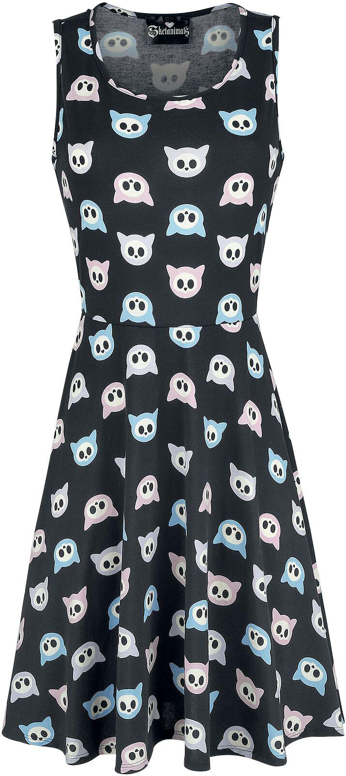 Merch dla Fanów - Sukienki - Sukienka Skelanimals Kit The Cat - Pastel Sukienka wielokolorowy - 348480