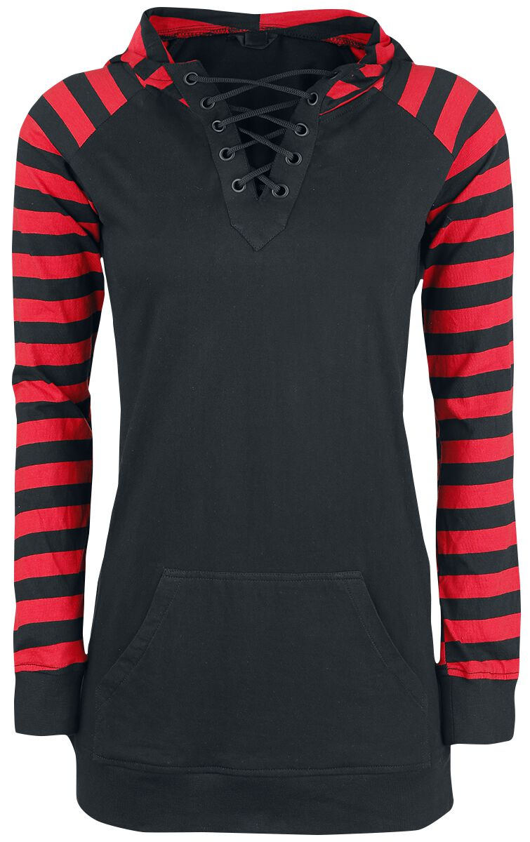 Image of   Gothicana by EMP Goblin Girlie hættetrøje sort-rød