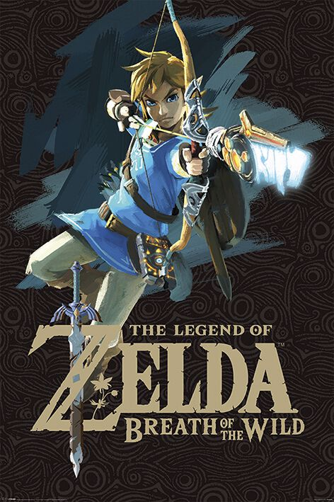 Image of   The Legend Of Zelda Breath Of The Wild - Game Cover Plakat Standard