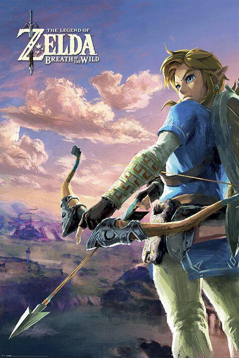 Image of   The Legend Of Zelda Breath Of The Wild - Hyrule Scene Landscape Plakat Standard