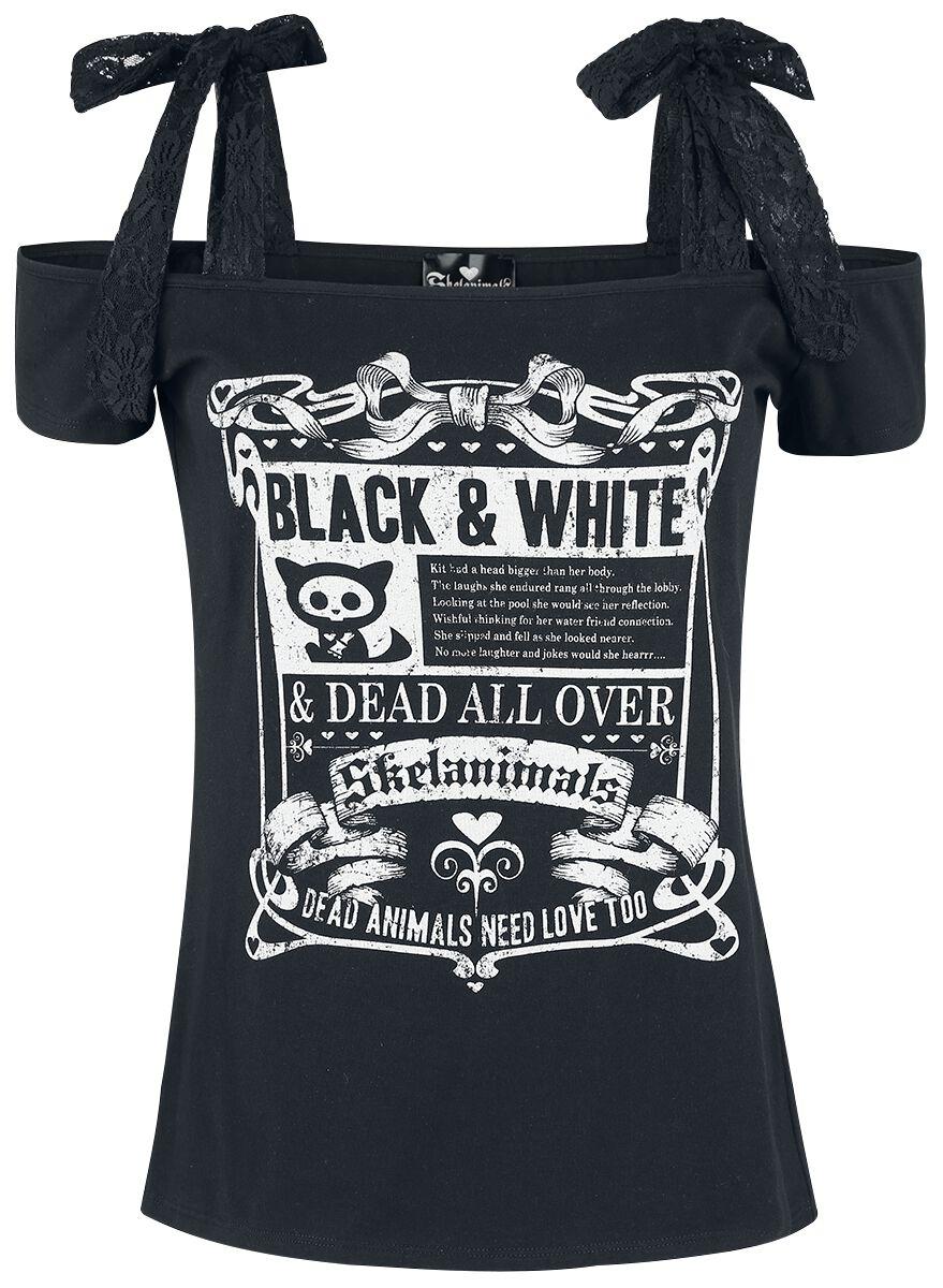 Merch dla Fanów - Koszulki - Koszulka damska Skelanimals Black & White Koszulka damska czarny - 348496