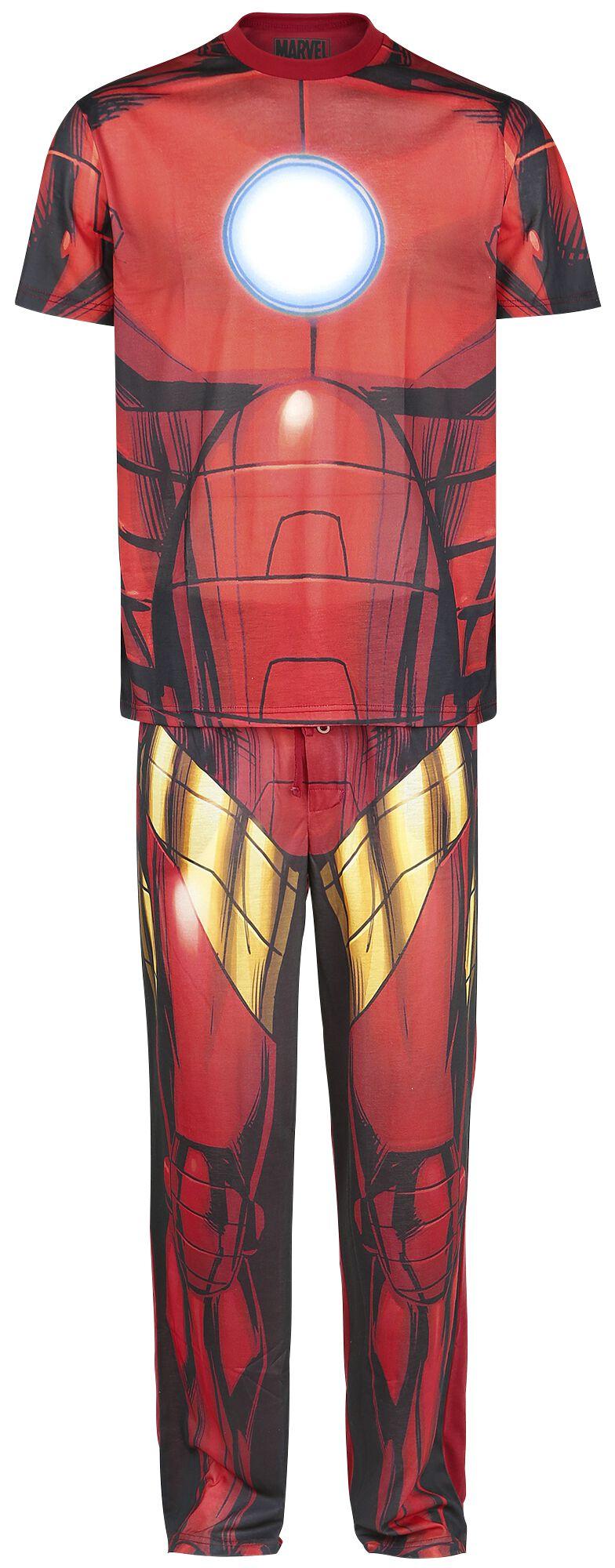 Merch dla Fanów - Do sypialni - Pidżama Iron Man Cosplay Pidżama wielokolorowy - 348590
