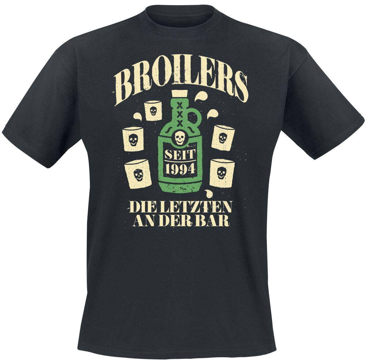 Zespoły - Koszulki - T-Shirt Broilers Die letzten an der Bar T-Shirt czarny - 348704