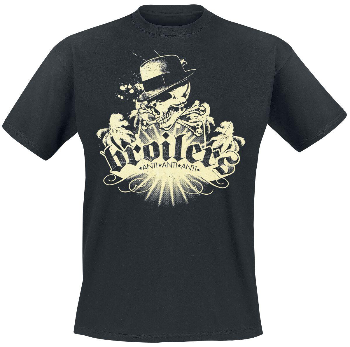 Zespoły - Koszulki - T-Shirt Broilers Skull & Palms T-Shirt czarny - 348707