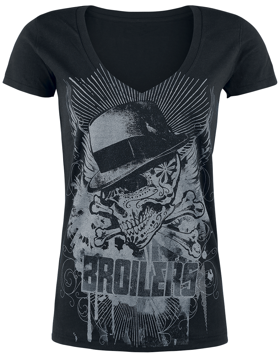 Broilers Sugarskull Classic Koszulka damska czarny