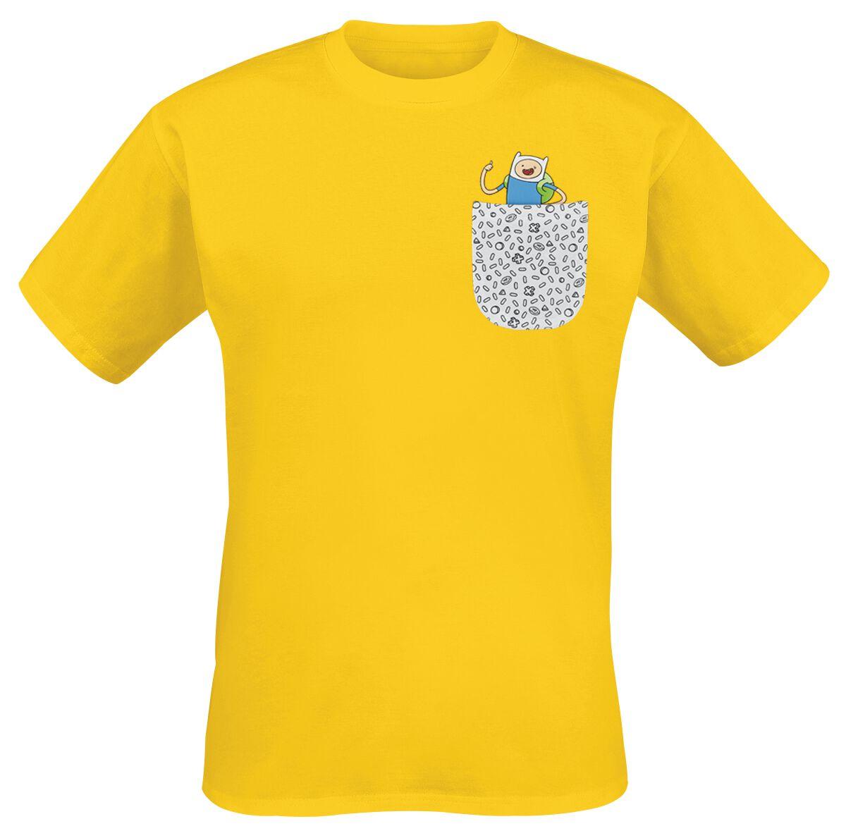 Merch dla Fanów - Koszulki - T-Shirt Adventure Time Jake & Finn T-Shirt żółty - 348943