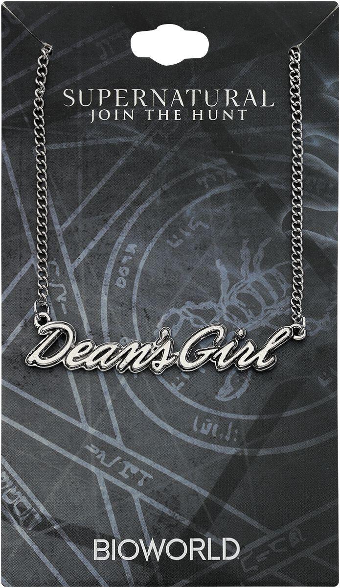 Image of   Supernatural Dean's Girl Halskæde sølvfarvet