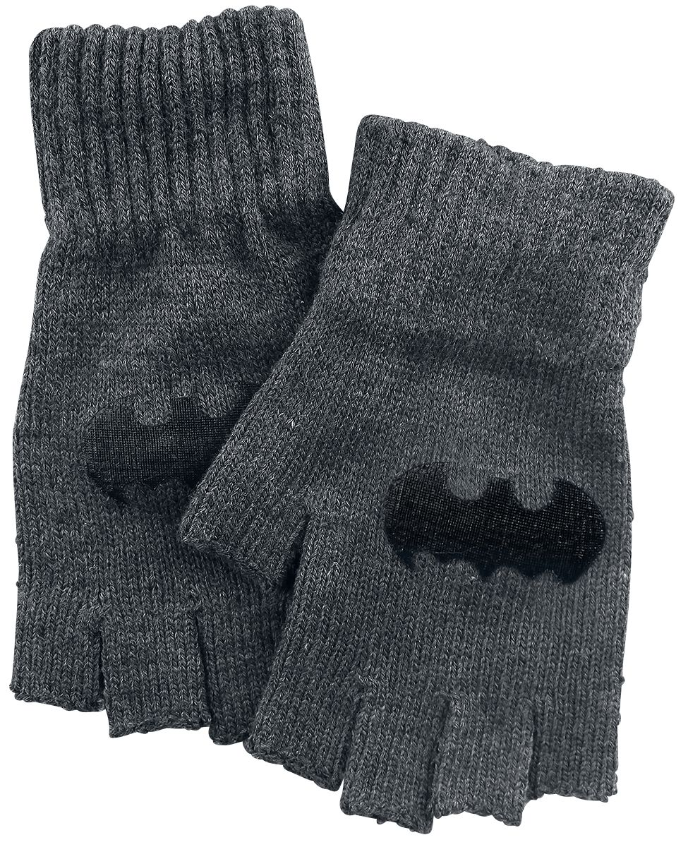 Image of   Batman Logo Fingerløse handsker grå-sort