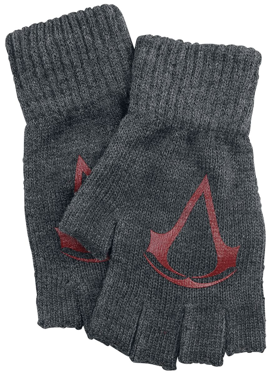 Image of   Assassin's Creed Red Logo Fingerløse handsker grålig-rød