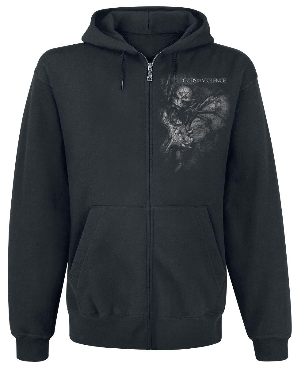 Zespoły - Bluzy z kapturem - Bluza z kapturem rozpinana Kreator GoV Gate Bluza z kapturem rozpinana czarny - 349159