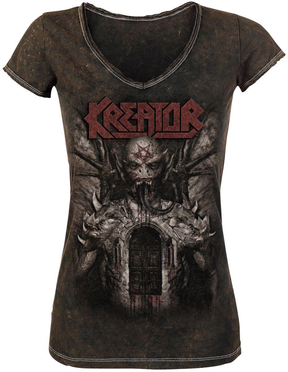 Zespoły - Koszulki - Koszulka damska Kreator Gods of Violence Koszulka damska brązowy - 349167