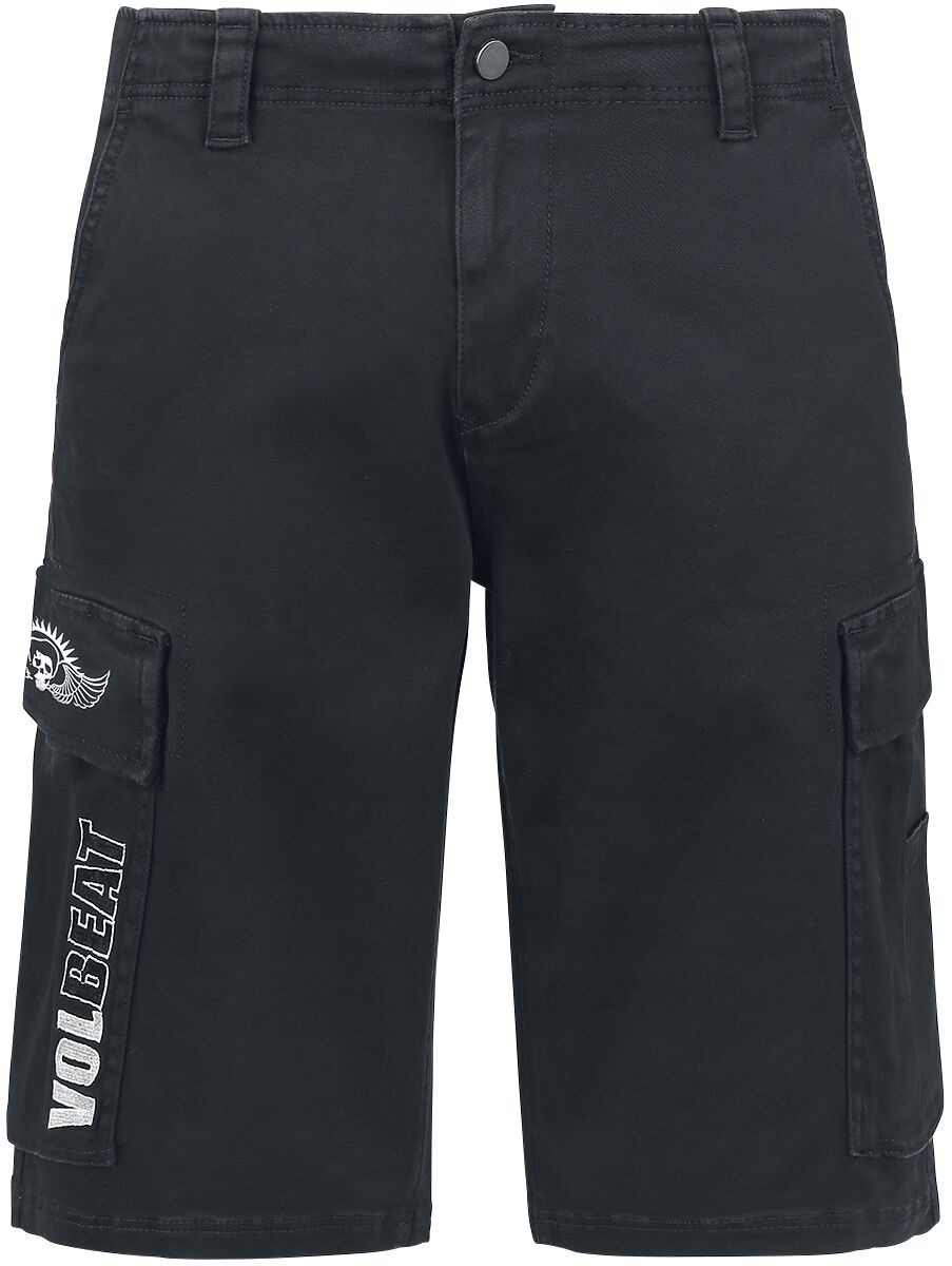 Image of   Volbeat Ornaments Crown Cargo shorts sort