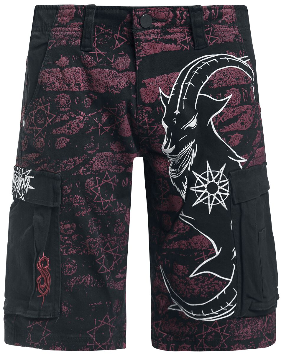 Image of   Slipknot Goat Logo Cargo shorts sort