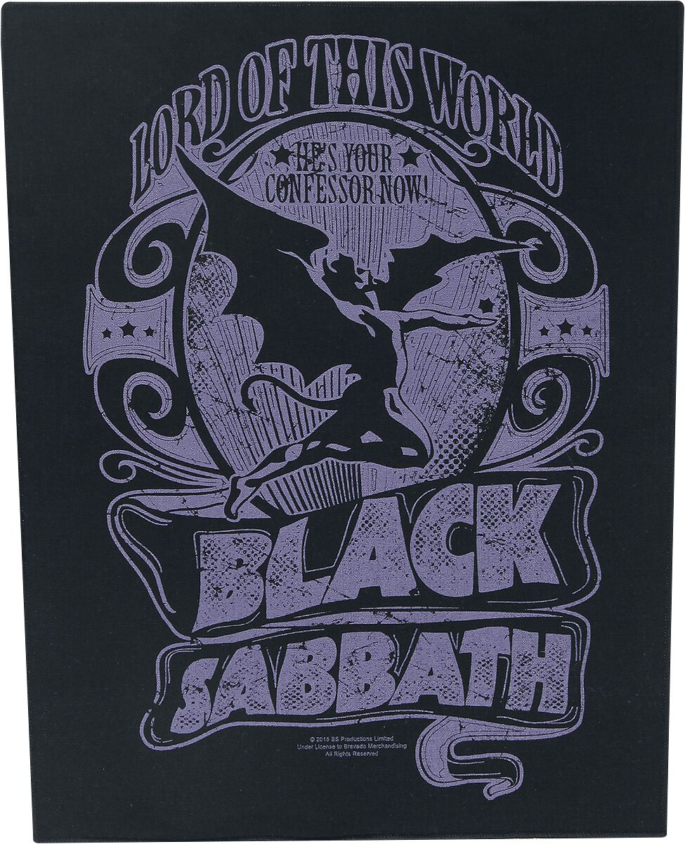 Image of   Black Sabbath Lord Of This World Rygmærke Standard