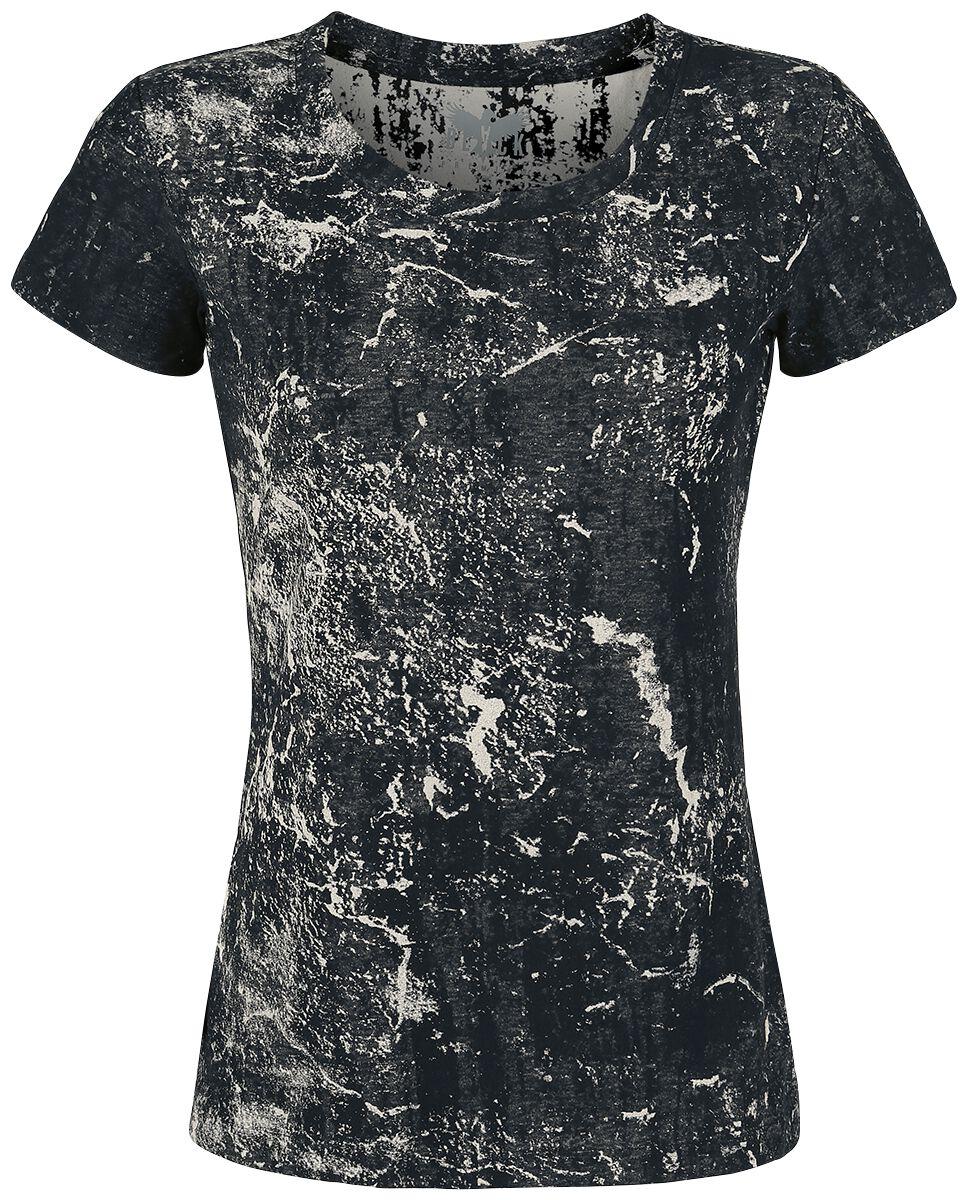 Image of   Black Premium by EMP Dark Ice Girlie trøje sort-grå