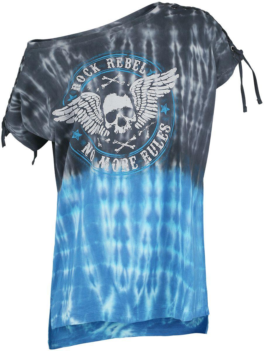 Image of   Rock Rebel by EMP Break The Circle Girlie trøje sort-hvid-blå