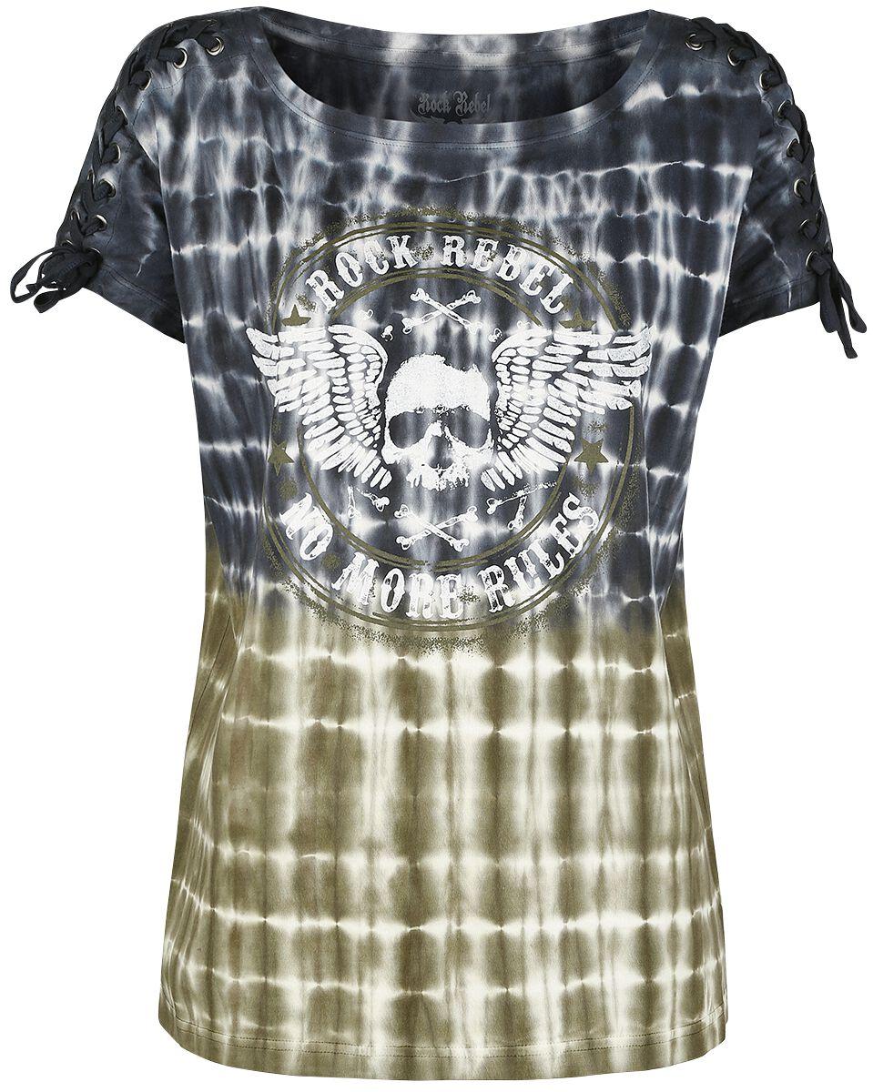 Rock Rebel by EMP Over And Out Koszulka damska czarny/biały/zielony