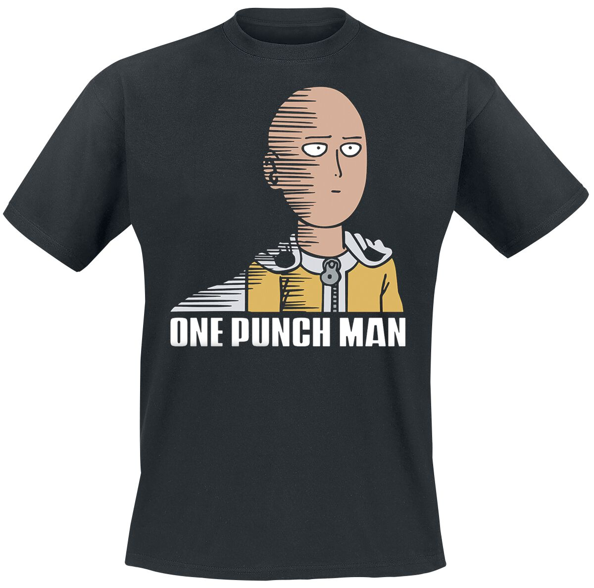 One Punch Man Saitama Fun T-Shirt schwarz ABYTEX420