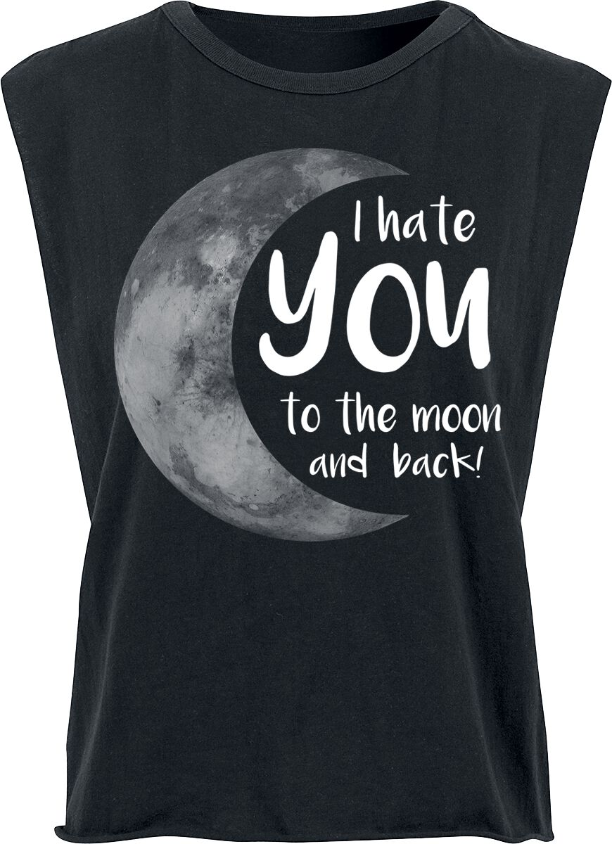 Fun Shirts - Topy - Top damski I Hate You To The Moon And Back Top damski czarny - 349473