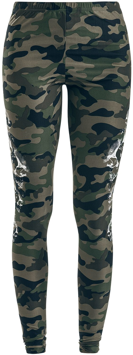 Hosen für Frauen - Rock Rebel by EMP Built For Comfort Leggings camouflage  - Onlineshop EMP