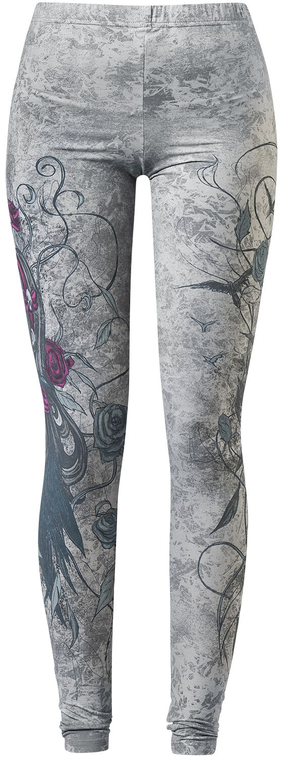 Image of   Gothicana by EMP Amethyst Leggings sort
