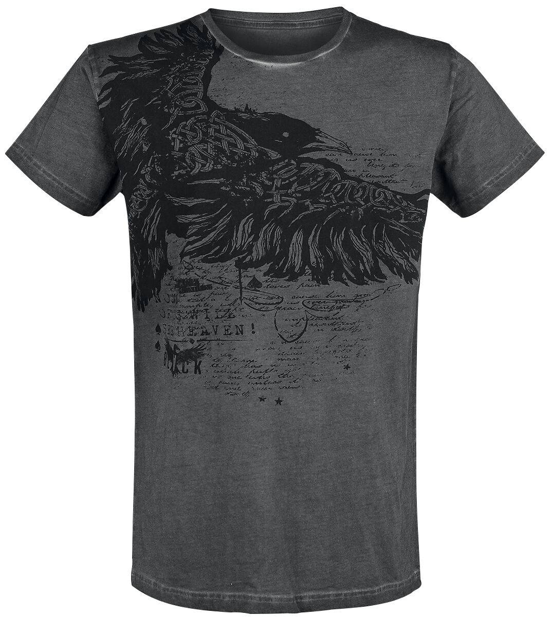 Image of   Black Premium by EMP A Storm From The Past T-Shirt sort-grå