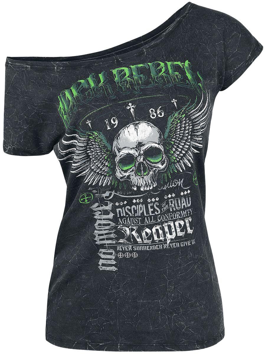 Image of   Rock Rebel by EMP All In The Mind Girlie trøje mørk grå