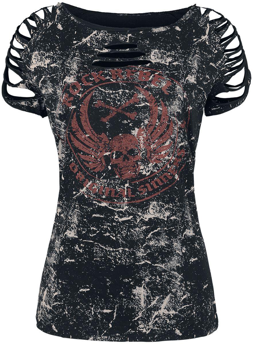 Image of   Rock Rebel by EMP All In The Mind Girlie trøje sort-grå