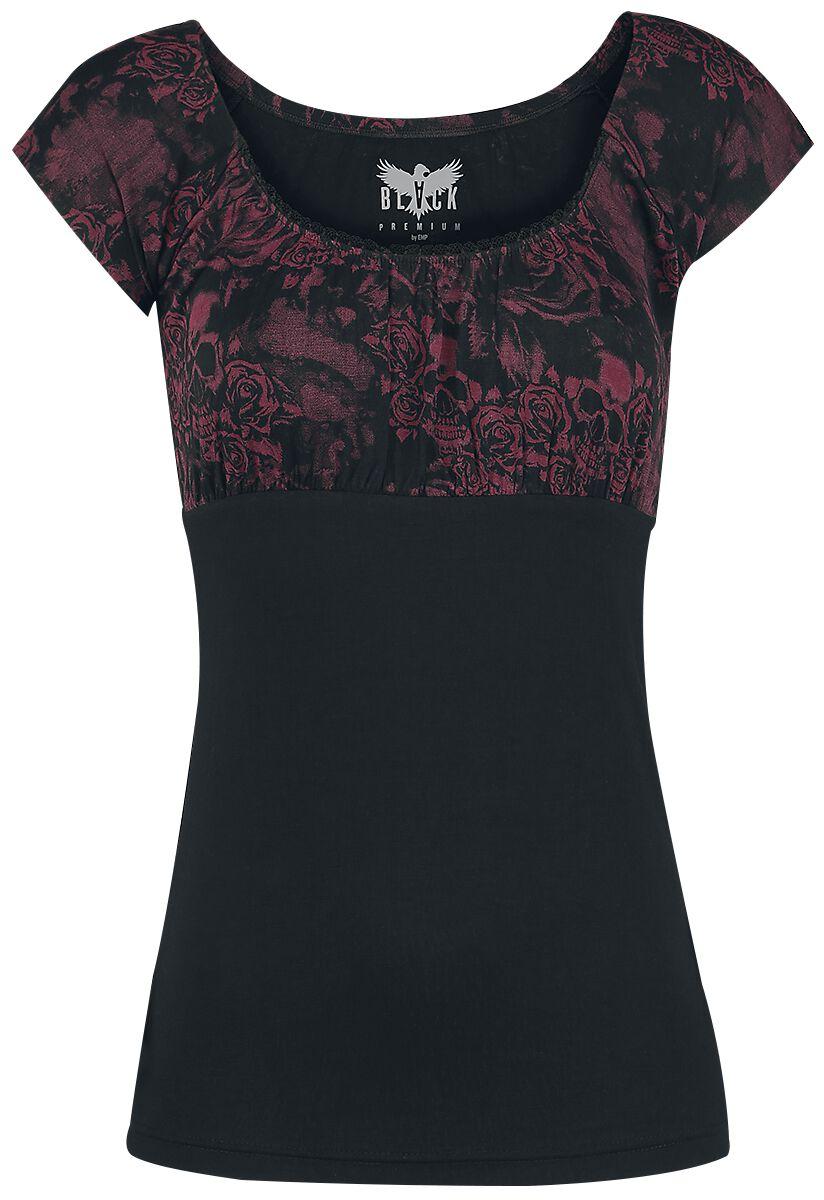 Image of   Black Premium by EMP Covered By Roses Girlie trøje sort