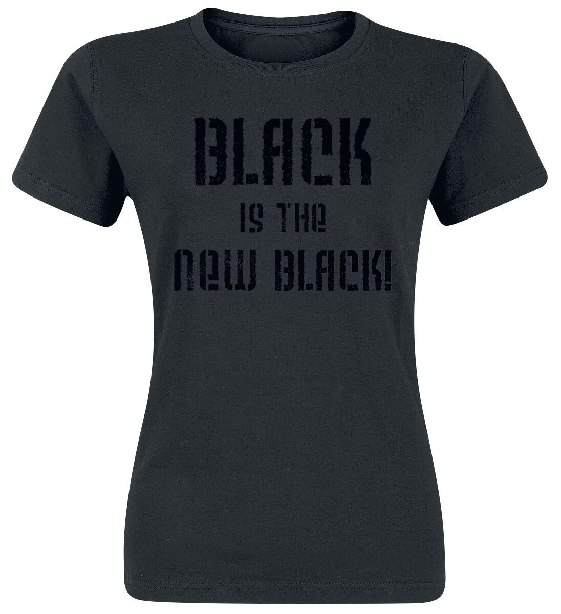 Fun Shirts - Koszulki - Koszulka damska Black Is The New Black! Koszulka damska czarny - 349801