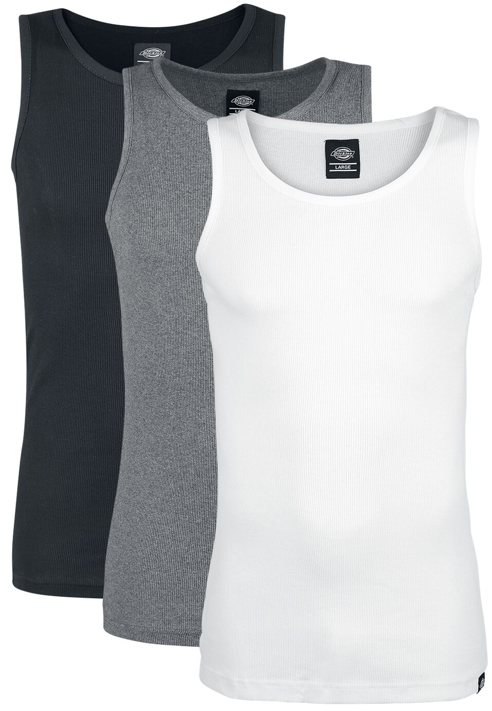 Image of   Dickies Proof Multi -Colour(3er-Pack) Tanktop-sæt sort-grå-hvid