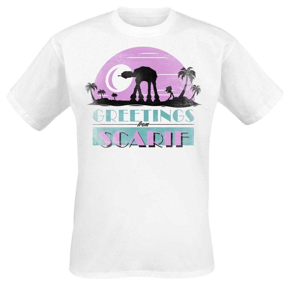 Image of   Star Wars AT-AT Greetings From Scarif T-Shirt hvid