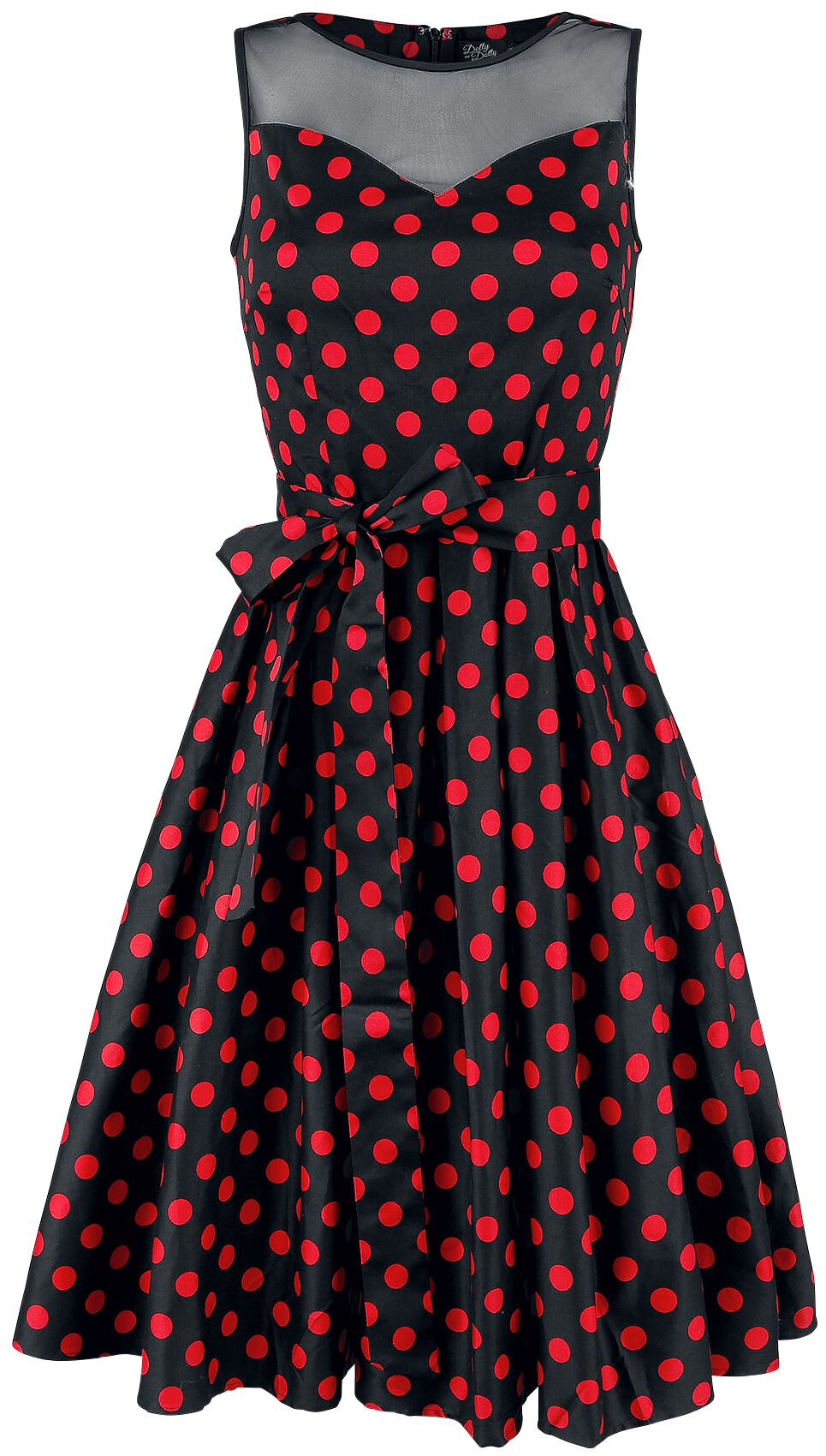 67a88923ff845d Kleider für Frauen - Dolly and Dotty Elizabeth Swing Dress Kleid schwarz rot  - Onlineshop EMP