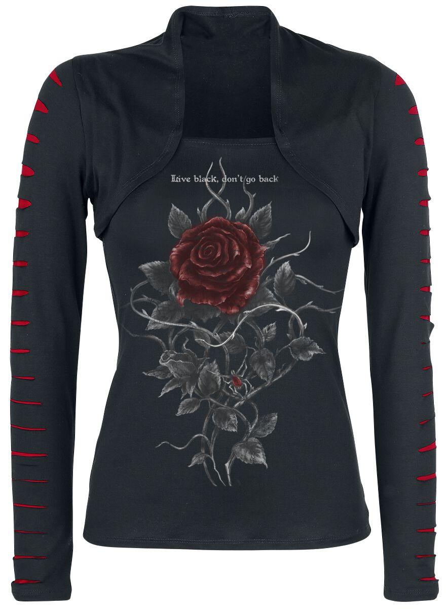 Image of   Alchemy England Roses Nest Girlie langærmet sort